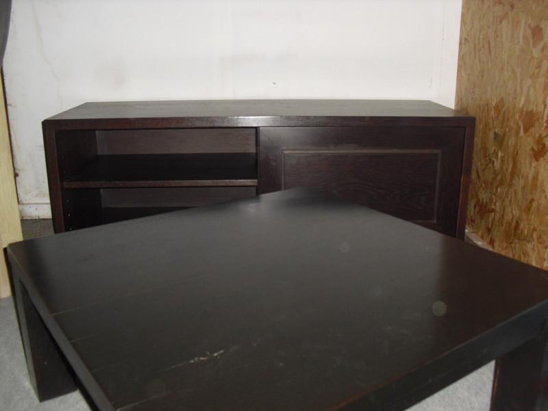 Meuble tele moderne 1 porte coulissante maison et jouets for Meuble noir porte coulissante
